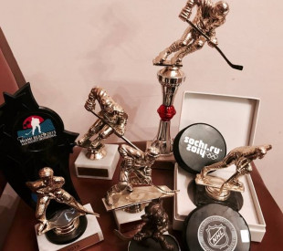 10 years in hockey, more than 100 awards
