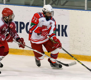 """The ice-hockey team """"Rus"""" played a victorious match with SSOR """"Spartak"""""""